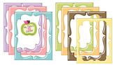 Digital Curvy Frames: Shiny Pastel