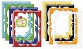 Digital Curvy Frames: Shiny Primary