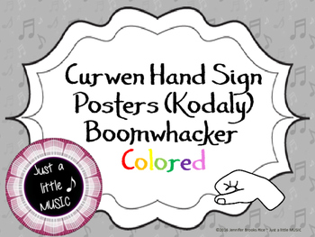 Curwen Hand Sign Posters {Boomwhacker Colored}--Kodaly