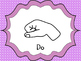 Curwen Hand Sign Posters {Purple dot Bkgd}--Kodaly