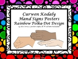 Curwen Hand Sign Posters - Rainbow Polka Dot PDF Edition