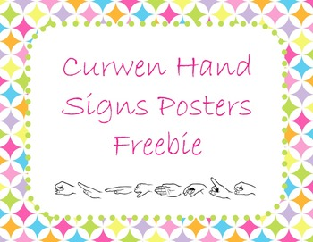 Curwen Hand Sign Posters in Rainbow