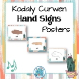 Curwen Hand Signs Posters - Ginger & Waves