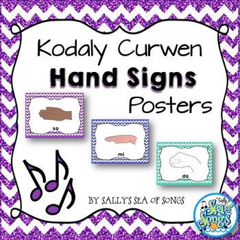 Curwen Hand Signs Posters - Glitter & Chevrons