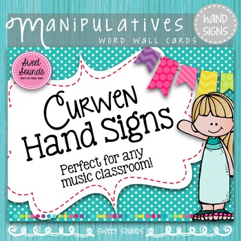 Curwen Hand Signs Posters {Kodaly Word Wall}