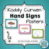 Curwen Hand Signs Posters - Teal & Blooms