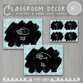 Curwen Kodaly Hand Signs Posters and Word Wall Cards {Brick Paint}