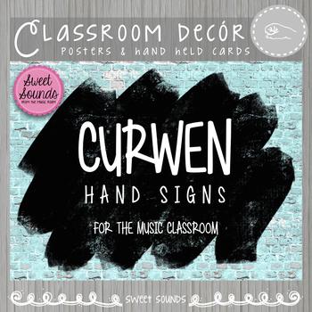 Curwen Kodaly Hand Signs {Brick Paint}