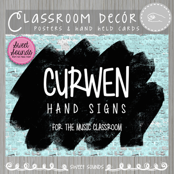 Curwen Solfege Hand Sign Posters and Word Wall Cards