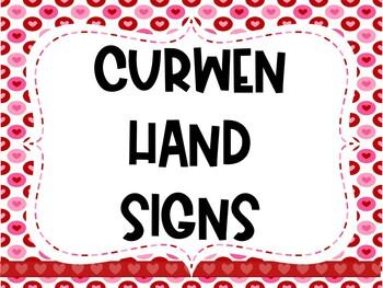 Curwen Hand Signs Valentine's Day Poster Set