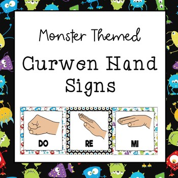 Curwen / Kodaly Hand Sign Posters (Monster Theme)