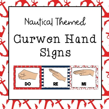 Curwen / Kodaly Hand Sign Posters (Nautical Theme)