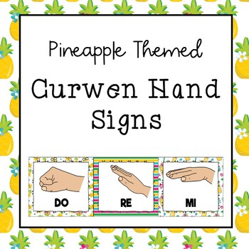 Curwen / Kodaly Hand Sign Posters (Pineapple Theme)