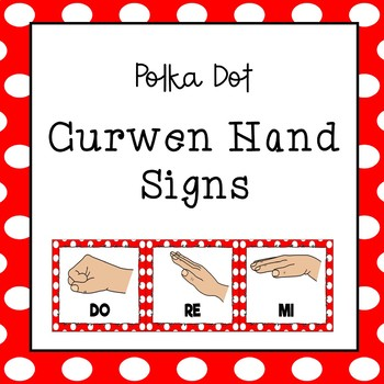 Curwen / Kodaly Hand Sign Posters (Polka Dots)