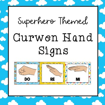 Curwen / Kodaly Hand Sign Posters (Superhero Theme)