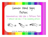 Curwen Kodaly solfege hand signs posters {Boomwhackers colors variety pack}