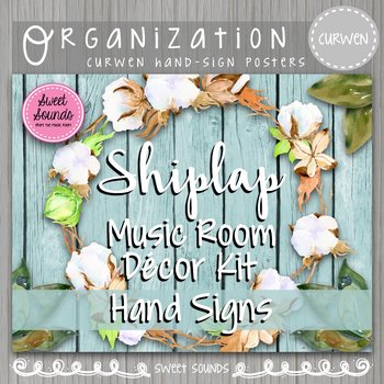 Solfege Hand Signs Shiplap Music Room Decor