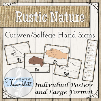 Curwen Solfege Hand Signs: Rustic Nature Decor Theme
