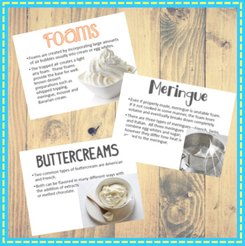 Custards Buttercreams & Foams Powerpoint & Lab ideas for FCS/Culinary Arts