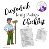 Custodial Duties Checklists
