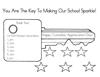 Custodian Appreciation Worksheets Teaching Resources Tpt