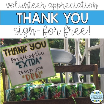 Custodian, Secretary, Volunteer Appreciation Gift Sign