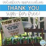 Custodian, Secretary, Volunteer Appreciation Gift Sign 2017-2018