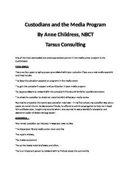Custodians and the Media Program