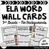 ELA Word Wall Editable - 3rd Grade - No Backgrounds