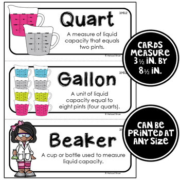 Math Word Wall Cards (3rd Grade - No Backgrounds)