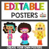 Custom 60's themed Posters Editable