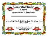 Custom AR Certificates, Superhero Design, for Miss Spooner