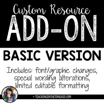 Custom Add-On (Basic Version)
