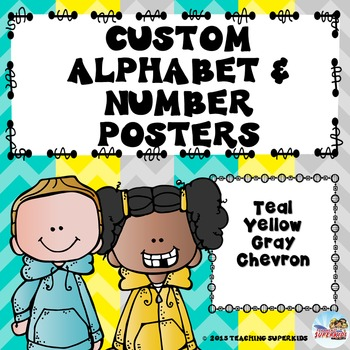 Custom Alphabet and Number Posters