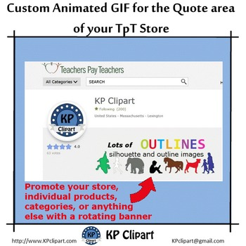 Custom Animated GIF for the Quote Section of your TpT Store