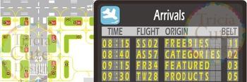 Custom Animated Quote Banner – Airport Runway Theme
