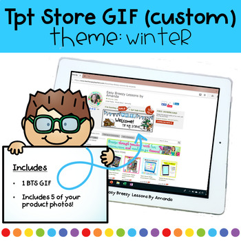 Custom Animated Quote Box (GIF) Theme: Winter 50% off first 24 hours