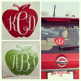 Custom Apple Monogram Decal