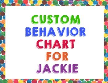 Custom Behavior Chart for Jackie