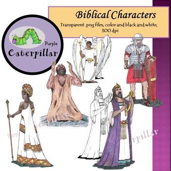 Bible Character Clip Art, 9 figures