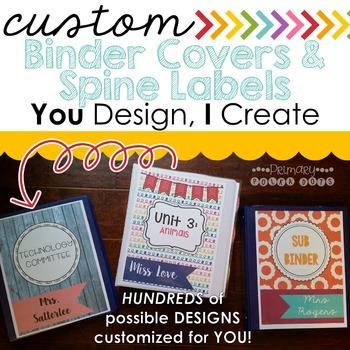 Custom Binder Covers {YOU Design, I CREATE}