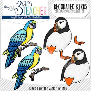 Custom Bird Graphics / Clip Art Set