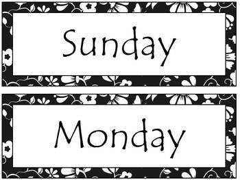 Custom Black and White Calendar Set