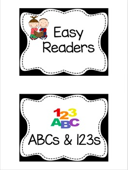 Custom Book Bin Labels- Editable