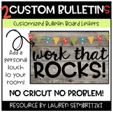 Custom Bulletin Board Letters for Your Classroom! (2 BOARDS)