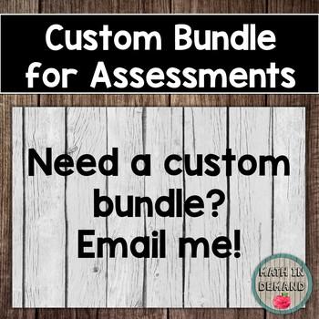 Custom Bundle (6th Grade Math Assessments)
