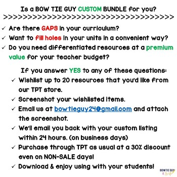 Custom Bundle Details