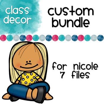 Custom Order for Nicole