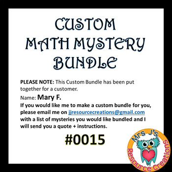 Custom Bundle Order #0015_Mary F.