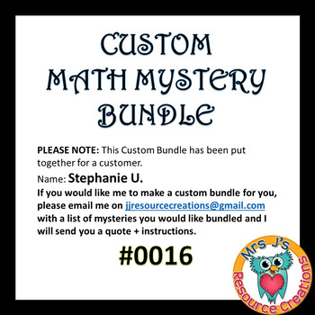 Custom Bundle Order #0016_Stephanie U.